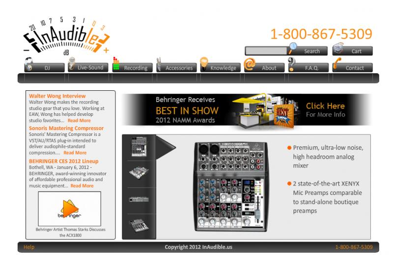 InAudible website screenshot