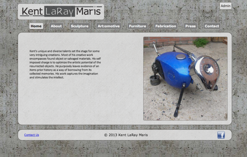 Kent Laray Maris website screen capture
