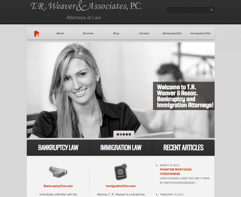 Theresa Weaver website screen capture