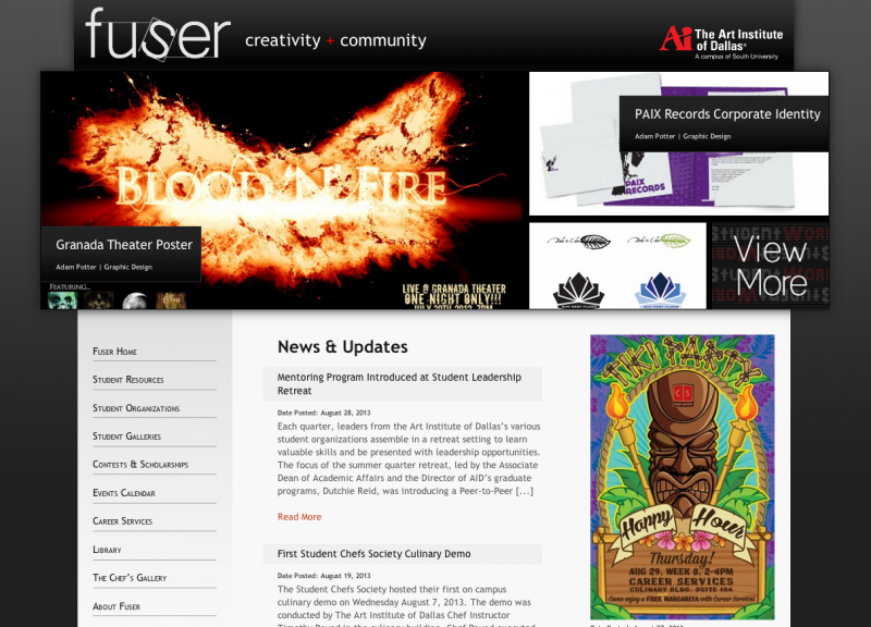 AidFuser website screenshot