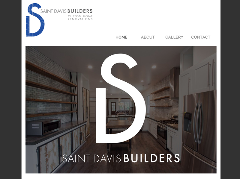 Screenshot of the Saint Davis Builders website